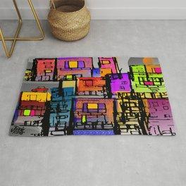 Color Block City Rug