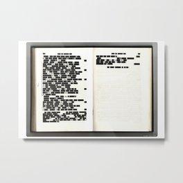 Redacted 01 Metal Print
