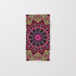 Scarlet Lace Starburst Mandala Hand & Bath Towel