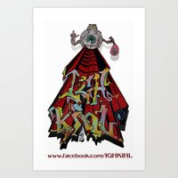 Igh Kihl Graffiti Tshirts Art Print