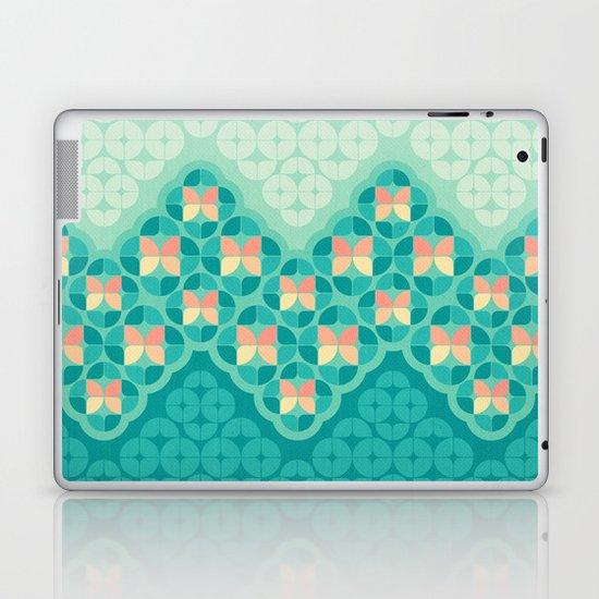 Blue Garden Pattern Laptop & iPad Skin