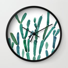 Succulent rhipsalis watercolor Wall Clock