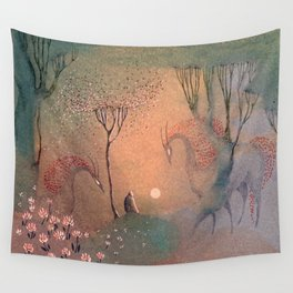 Good-bye Sun Wall Tapestry