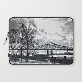 Bridge in Winter (B&W)  Laptop Sleeve