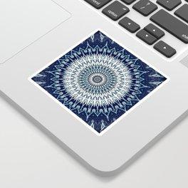 Indigo Navy White Mandala Design Sticker