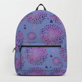 Dahlia Purple Pattern Periwinkle Blue Backpack