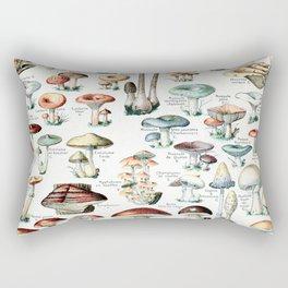 Adolphe Millot - Champignons pour tous - vintage poster Rectangular Pillow
