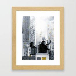 Rainy New York City Framed Art Print