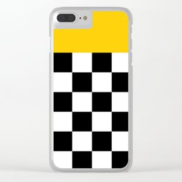 Marigold & Checkers Clear iPhone Case
