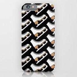 Ice Skating Pattern (Black White) iPhone Case