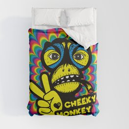 Hippie Trippy Cheeky Monkey Duvet Cover