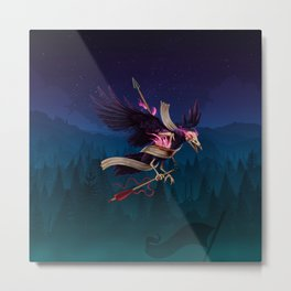 Undead Crow Metal Print