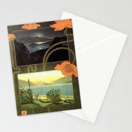 Vintage poster - Lago di Como Stationery Cards