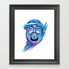 Big Pun : Dead Rappers Serie Framed Art Print