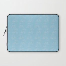 Blue Vintage Road Racing Bicycle Pattern Laptop Sleeve
