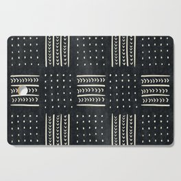 Mud cloth in black and white Cutting Board