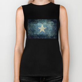 Somalian national flag - Vintage version Biker Tank