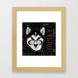 HUSKY AVIATOR Framed Art Print