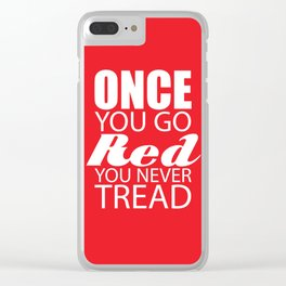 Going Red Clear iPhone Case