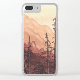 Tonal Mountain Study Quinacrodone Gold Clear iPhone Case