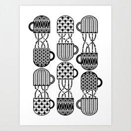 Cups and Mugs Art Print