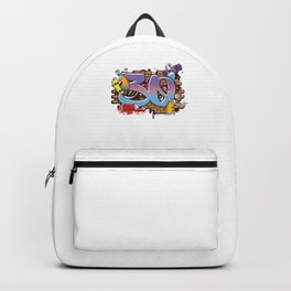 Hiphop Dancer Graffiti Artist Typography 30th Birthday Hip Hop Urban Wall Mural Street Art Backpack