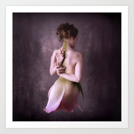 And then she turned into rose Art Print