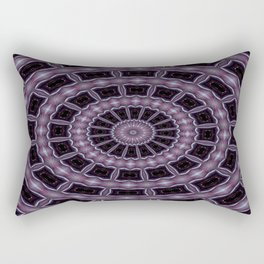 Eggplant and Pale Aubergine Kaleidoscope Pattern Rectangular Pillow