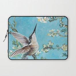 Almond Blossom with Hummingbirds I Laptop Sleeve