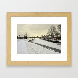 Winter at the Basin  Framed Art Print