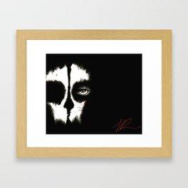 Death is a WoMaN Framed Art Print