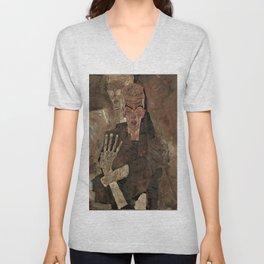"""Egon Schiele """"Self-Seer II (Death and Man)"""" Unisex V-Neck"""