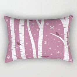 Birch Forest - Winter Idyll Rectangular Pillow