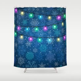 Christmas background Shower Curtain