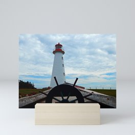Sailing to Point Prim Lighthouse Mini Art Print