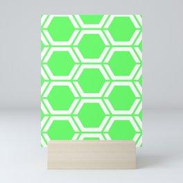 Screamin' Green - green - Geometric Polygon Pattern Mini Art Print