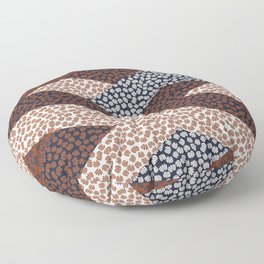 Patched Abstract Floral I Floor Pillow