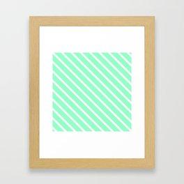 Mint Julep #2 Diagonal Stripes Framed Art Print