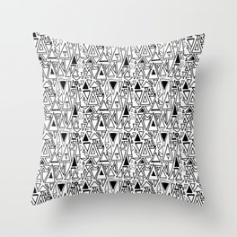 Chotic Angles in Black & White by Deirdre J Designs Throw Pillow
