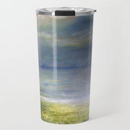Sea Shore Watercolor Ocean Landscape Nature Art Travel Mug