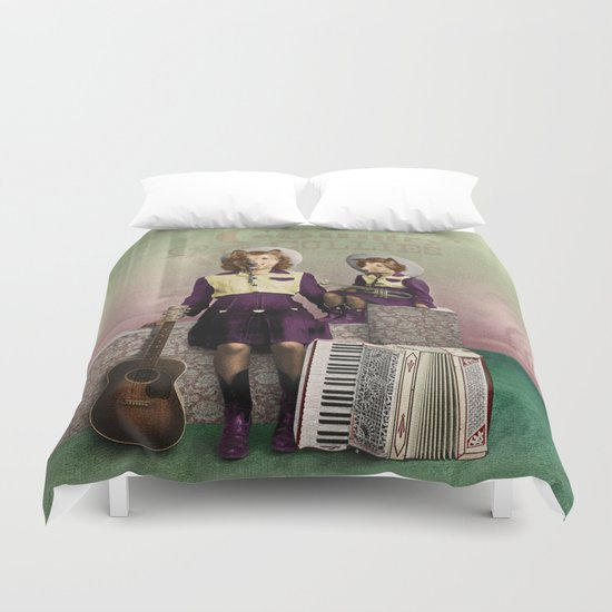 The Country Collies Duvet Cover