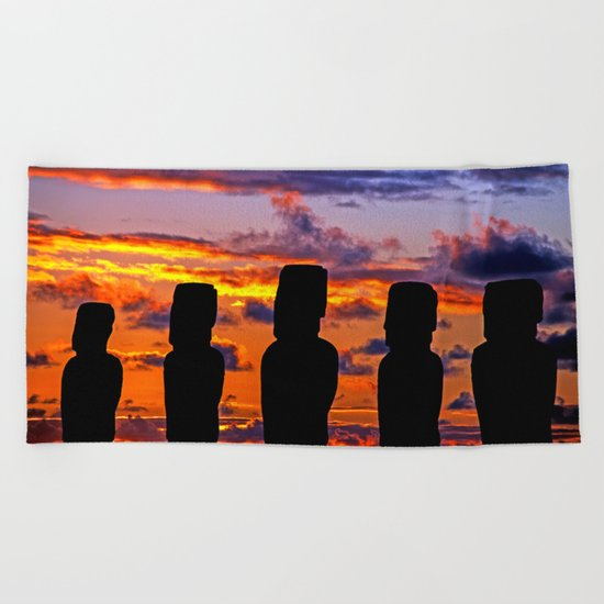 TOUCHED BY FIRE Beach Towel