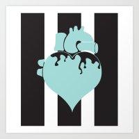 pastel goth Art Prints featuring Pastel Goth Heart by Minette Wasserman