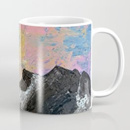 Arapahoe National Forest [3]: a colorful abstract mixed media mountain range Coffee Mug