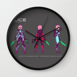 Alice Character Model Sheet Wall Clock