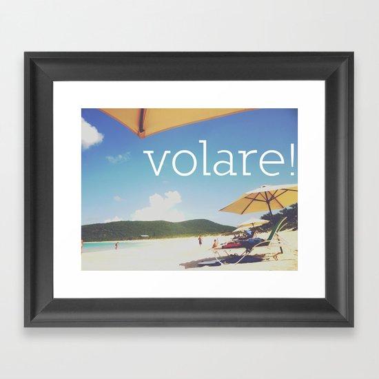 Volare! Framed Art Print