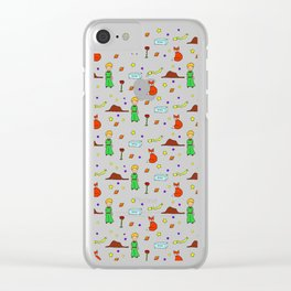 """""""The Little Prince"""" Pattern Clear iPhone Case"""