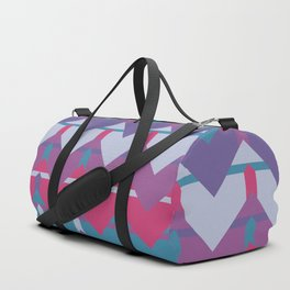 Cool Waves #society6 #violet #pattern Duffle Bag