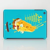 cheese iPad Cases featuring Say cheese by Lime