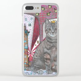 """""""Cat and apple tree""""  Illustrated print Clear iPhone Case"""